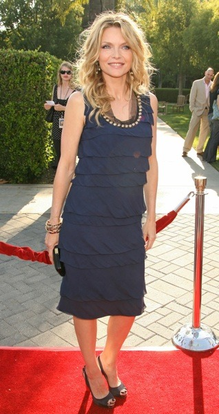 Michelle Pfeiffer in black dress