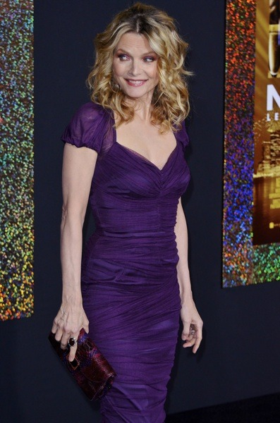 Michelle Pfeiffer in purple dress