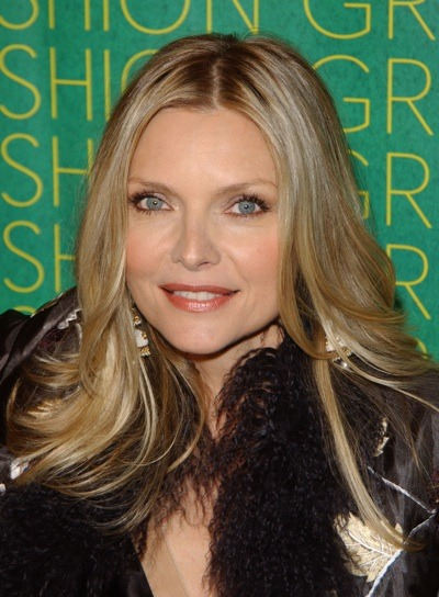 Michelle Pfeiffer with straight hair