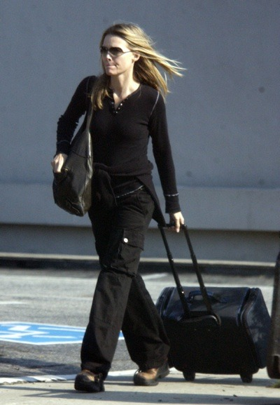 Michelle Pfeiffer traveling