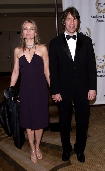Michelle Pfeiffer with gold sandals