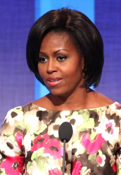 Michelle Obama's chic, bob hairstyle