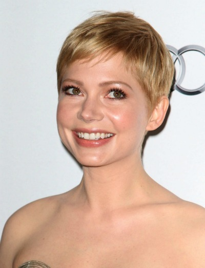 Michelle Williams' pixie cut