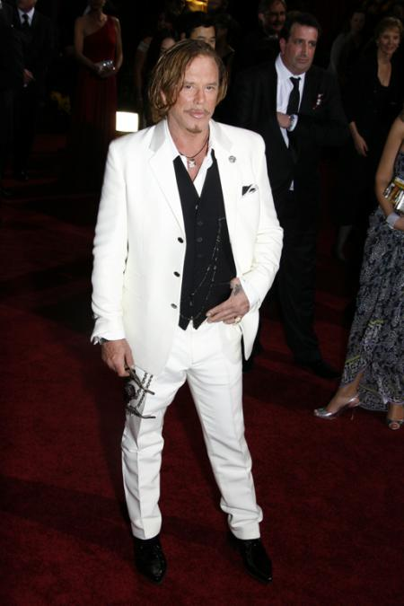 Mickey Rourke at the 2009 Oscars