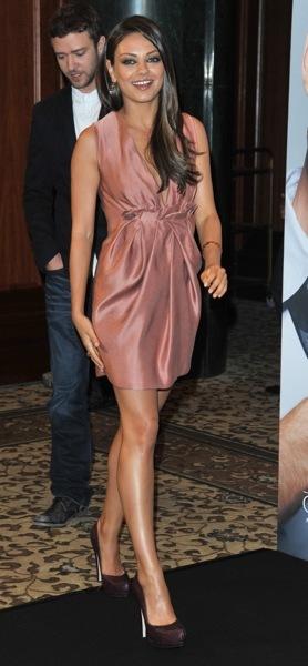 Mila Kunis in platform heels
