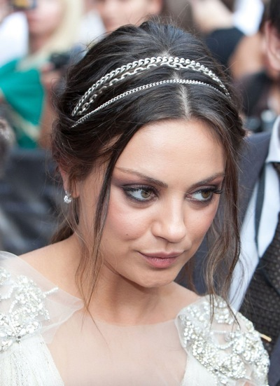 Mila Kunis in a headband