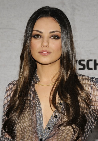 Mila Kunis smokey eye makeup