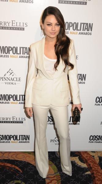 Mila Kunis in a pantsuit