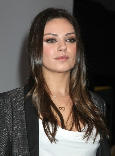 Mila Kunis with soft waves