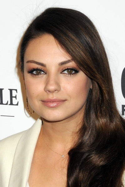 Mila Kunis with side ponytail