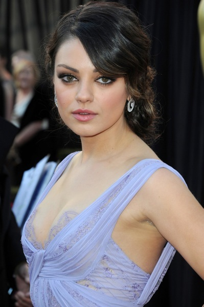 Mila Kunis with an updo