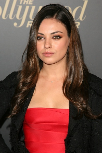 Mila Kunis with ringlets