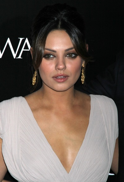 Mila Kunis with an elegent updo