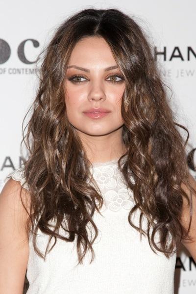 Mila Kunis in relaxed curls