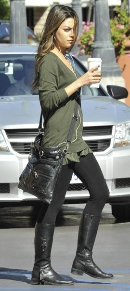 Mila Kunis's military style