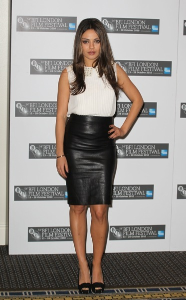 Mila Kunis in a pencil skirt