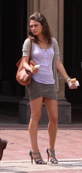 Mila Kunis in a skirt