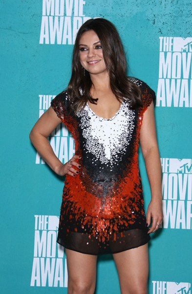 Mila Kunis sequin dress