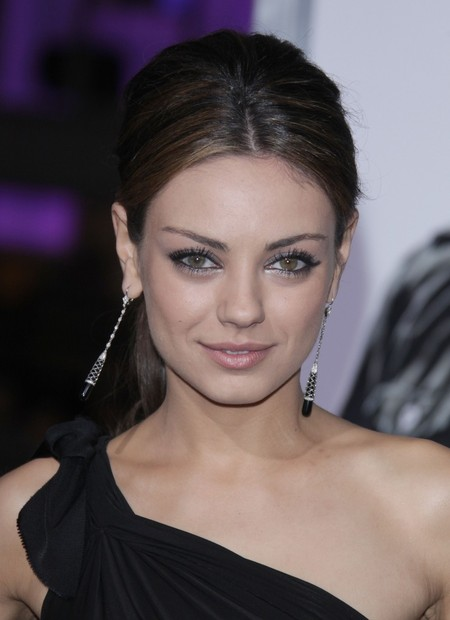 Celebrity hairstyles. Mila Kunis' Sexy Updo
