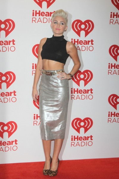 Miley Cyrus in metallics