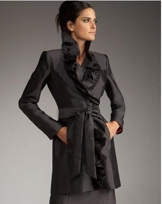 Milly ruffle knee coat