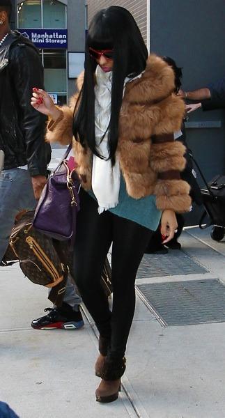 Nicki Minaj in fur