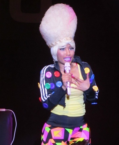 Nicki Minaj with headband braid