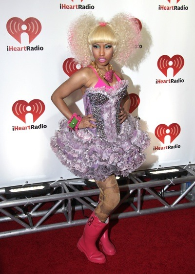 Nicki Minaj in rainboots