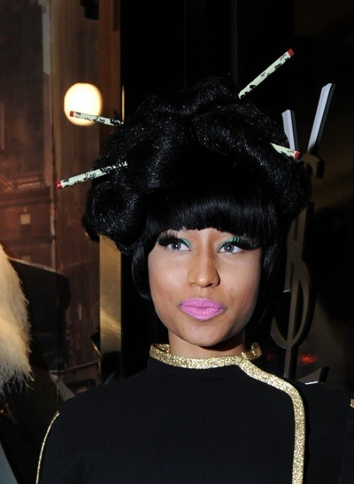 Nicki Minaj in up-do