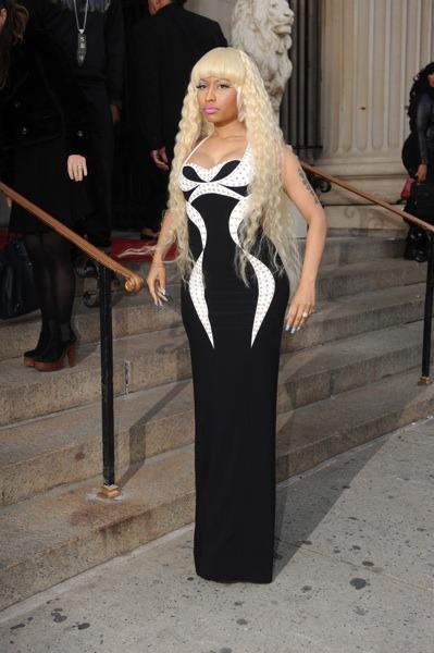 Nicki Minaj with crimped hair