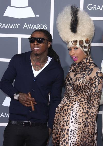 Nicki Minaj with animal print hair