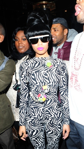 Nicki Minaj in zebra print