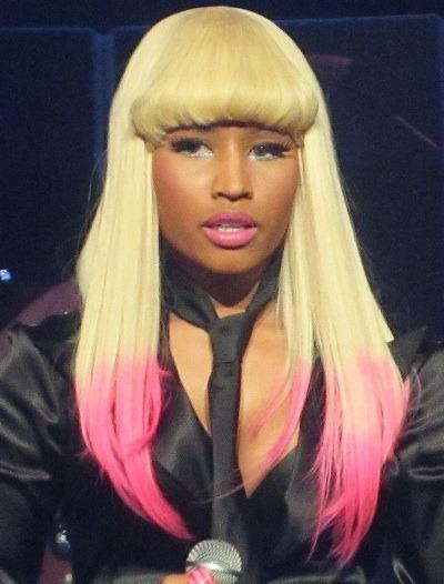 Nicki Minaj in a tie