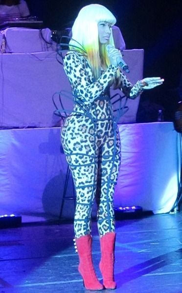 Nicki Minaj in a catsuit
