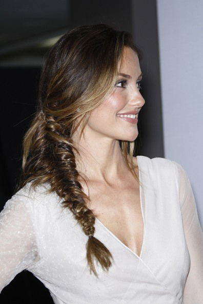Minka Kelly's fishtail braid hairstyle