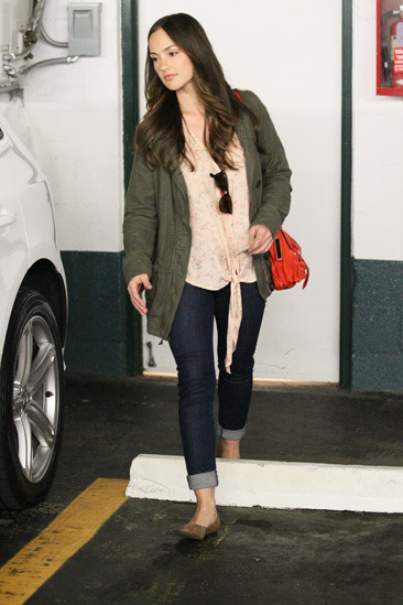 Minka Kelly leaves Beverly Hills Nail Design