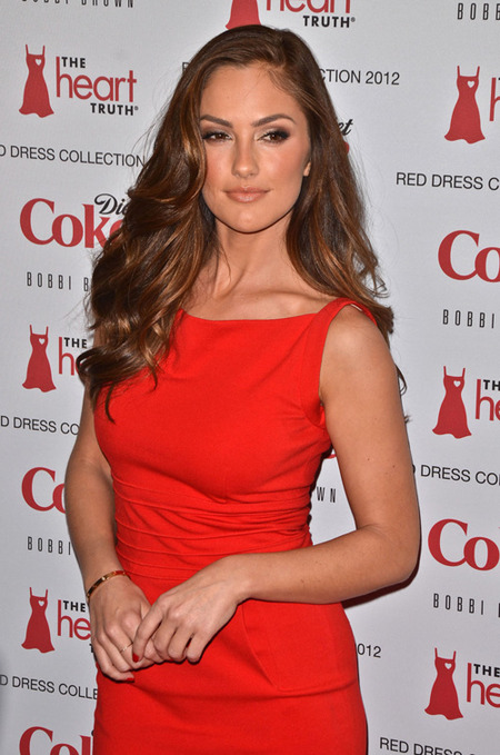 Minka ravishing in red