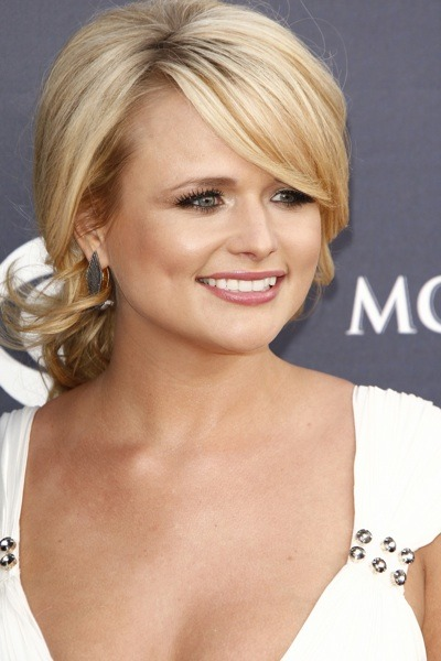 Miranda Lambert in pulled back curls