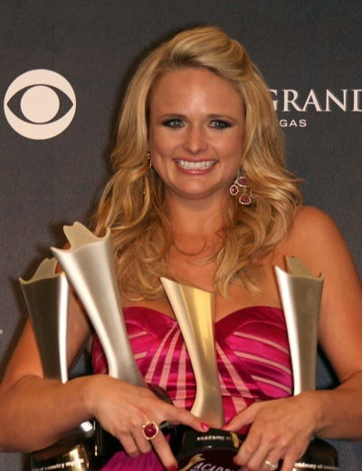 Miranda Lambert with heavy bangs
