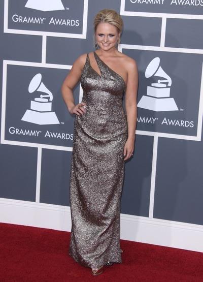Miranda Lambert in metallic gown