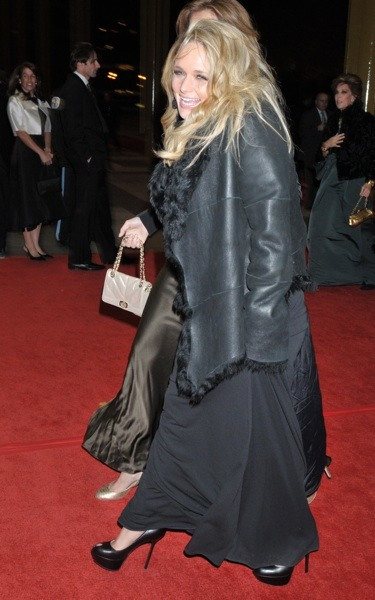Miranda Lambert in black leather coat