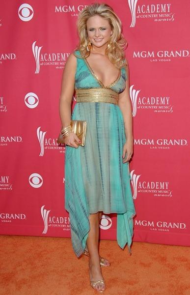 Miranda Lambert with gold accessories