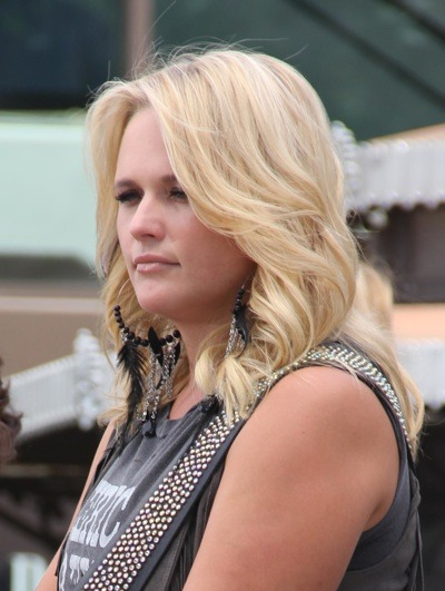 Miranda Lambert with soft curls