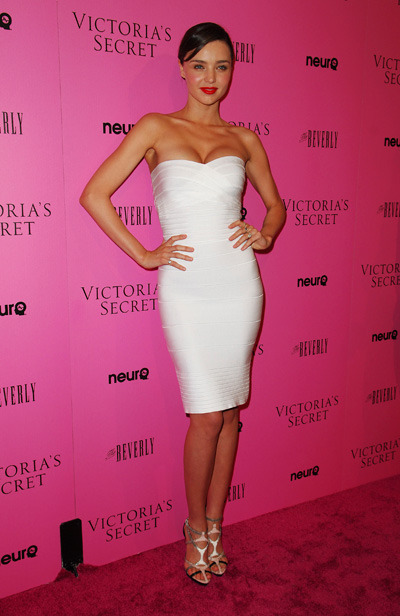 Miranda Kerr in Herve Leger by MAX AZRIA