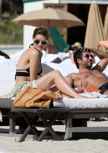 Mischa Barton gets some sun in Miami