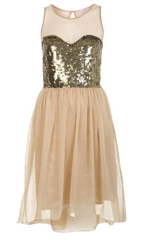 Sequin bodice dress