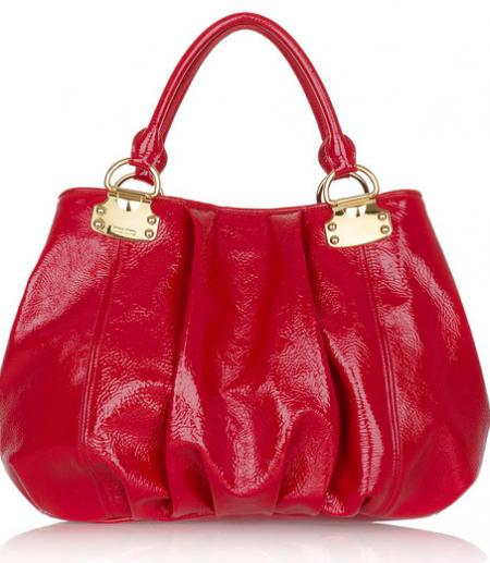 Miu Miu Crinkle Patent Shoulder Bag