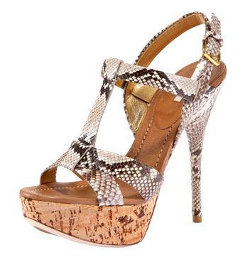 Miu Miu Python Cork Sandals