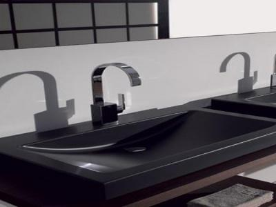 Modern black above-counter sink