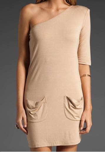 Asymetrical Nude Dress